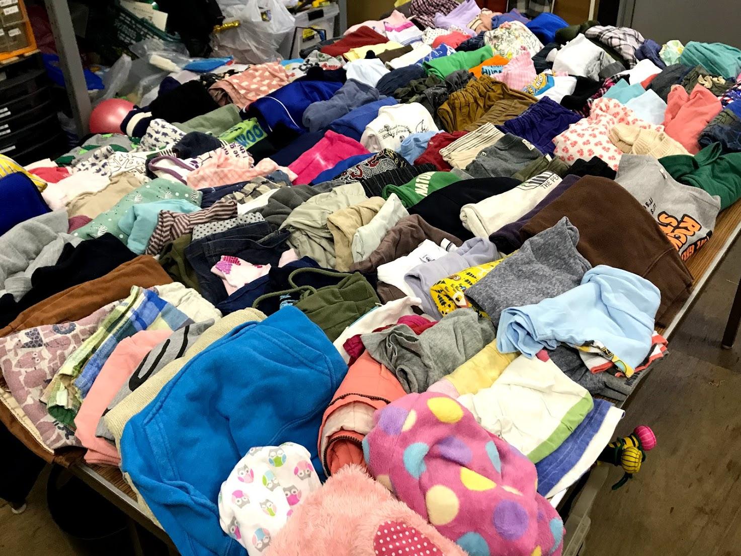 難民支援回収衣料